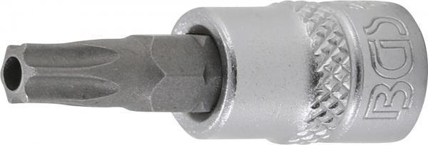 """Bit-Einsatz   Antrieb Innenvierkant 6,3 mm (1/4"""")   T-Profil (für Torx) mit Bohrung T30"""